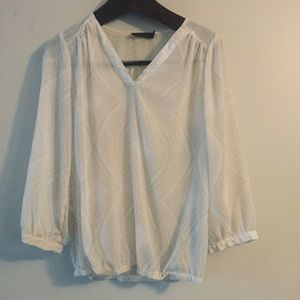 The Limited sheer long sleeve blouse. Large